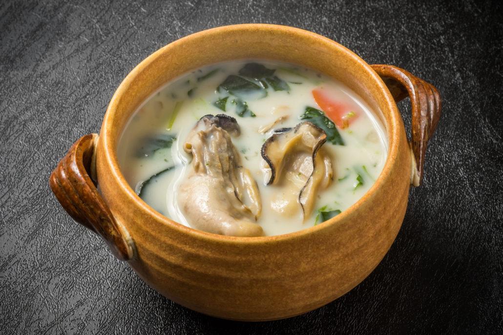 さつまいもと牡蠣のクリームスープ